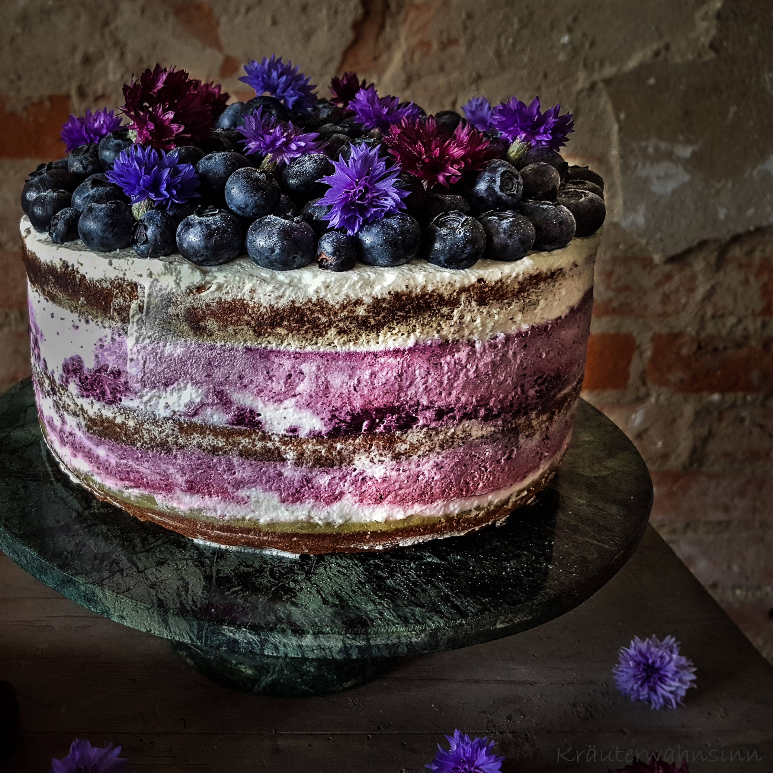 Blaubeer-Limette-Mascarpone-Torte