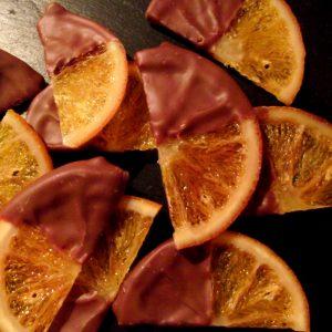 Kandierte Schokoladenorangen