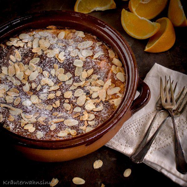 Mandel-Ricotta-Kuchen mit Orangen