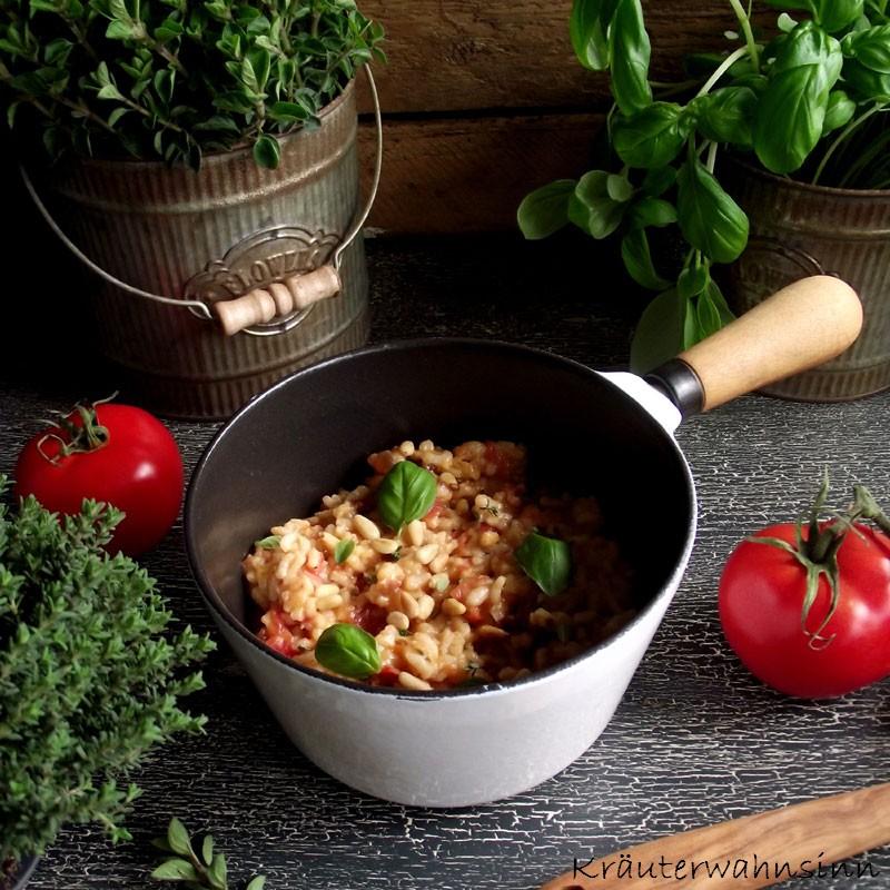 Tomaten-Kräuter-Risotto