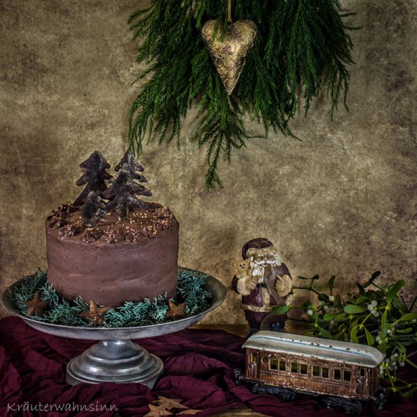 Weihnachtliche Schokoladentorte